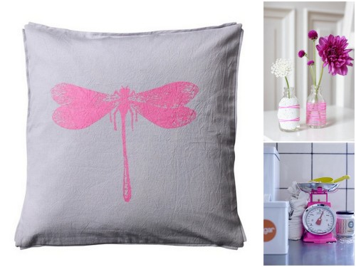 pillow pink kitchen balance flower base